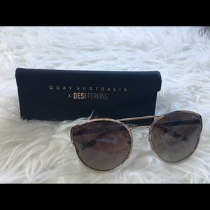 QUAY Cherry Bonb Sunglasses + Hard Shell Case